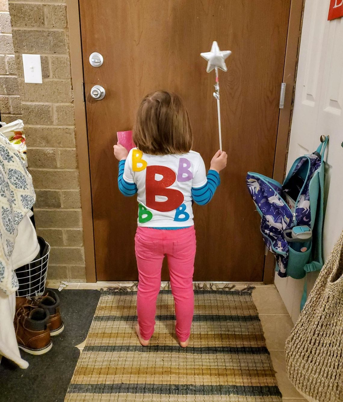 B shirt - back